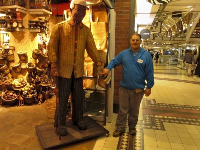 Chris with a beaded Mandela